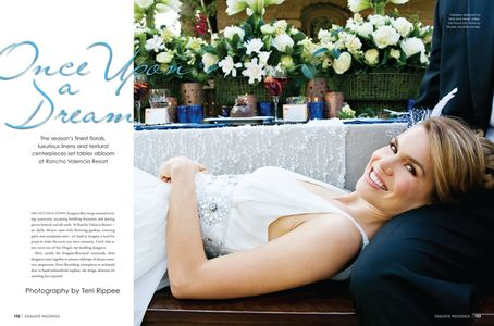 Bridal Beauty for Exquisite Weddings Magazine.  Once Upon a Dream