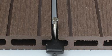 Non-protruding nails for composite decking boards