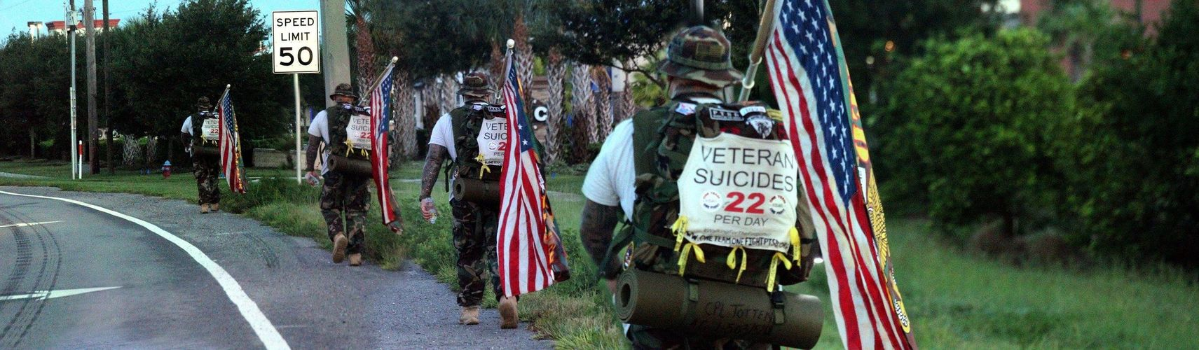 Ruck Marching Lake County, Florida to bring awareness of veteran suicide and support those battling