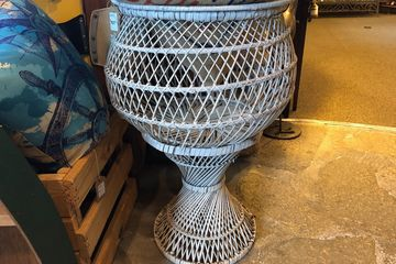 Vintage, wicker plant stand.