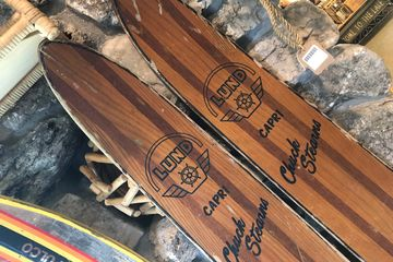 Vintage Chuck Stearns water skis.