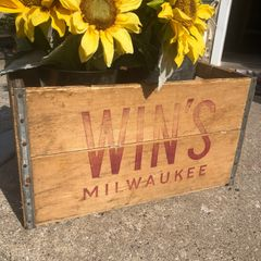 Vintage Win's Milwaukee crate.