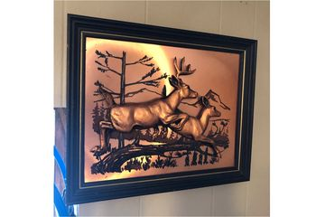 Copper relief deer  wall art.