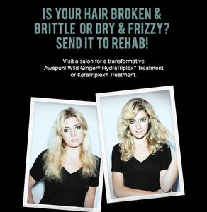 Is your hair broken & Brittle, dry & Frizzy? Send it to Rehab!