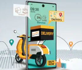 hyper local deliver scooter