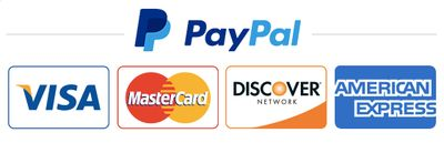 paypal payment, visa, mastercard, discover, american express, Beachee Clean II