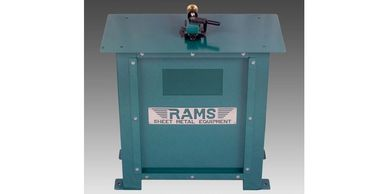 rams 2007 20ga stand alone power flanger rams sheet metal equipment