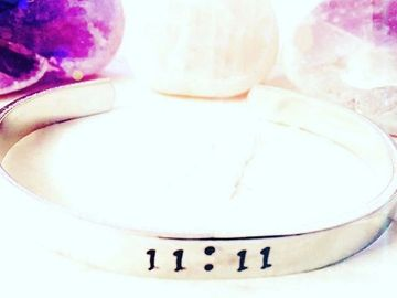 Angel 11:11 cuff bracelet wish jewelry custom