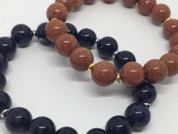 Goldstone inspiration motivation custom jewelry sparkle bracelet