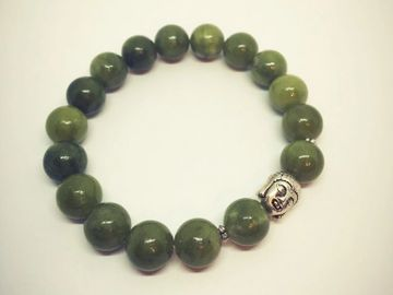 jade buddha crystal bracelet money green abundance wealth