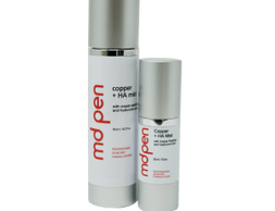 MDPen Copper + HA Mist formula includes hyaluronic acid for significant skin hydration, and copper p