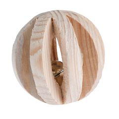 This wooden ball with a bell is a great activity toy for small pets. They can play with it or nibble