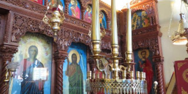 The Iconostacia in The Greek Orthodox Church of the Archangel Michael - Margate
