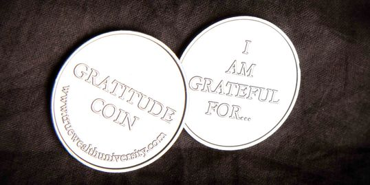 Gratitude Coins, Being grateful