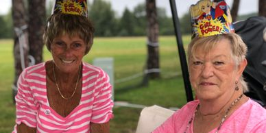 Kathy Baughan and Lois Lafler at Rally for a Cure golf outing