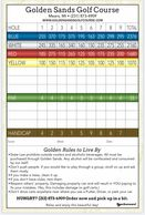 Golden Sands Golf Course Yardage and Score Card