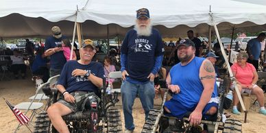 David Webster and Veterans at Heroes on the Dunes at Silver Lake Sand Dunes