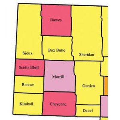 Counties of Western Nebraska