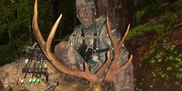 Tom Ryle with Roosevelt bull elk