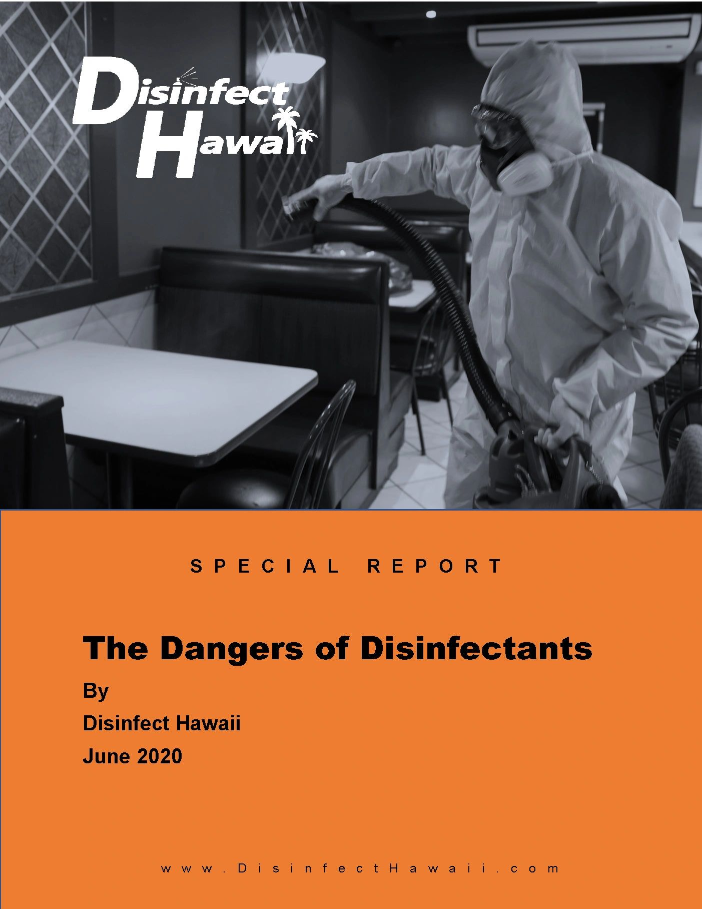 Cover of special report on the dangers of disinfectants