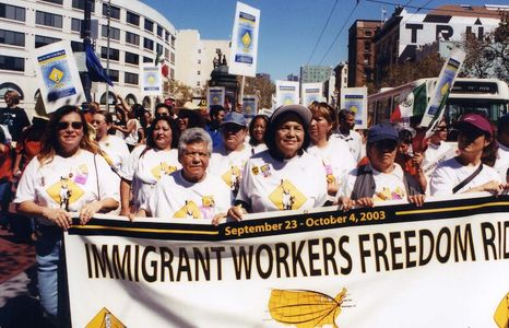 The Long Ride is a timely award-winning documentary about the historic 2003 Immigrant Workers Freedom Ride.