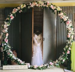 Ring of flowers Arch 8 ft tall 6 ft wide can only be delivered.  Local delivery price included