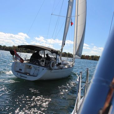 We  offer introduction  to sailing. ROC-M  VHF  licence, private lessons, docking practice