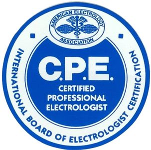 A CPE will proudly display this seal. It is the patient/client's assurance of professionalism.