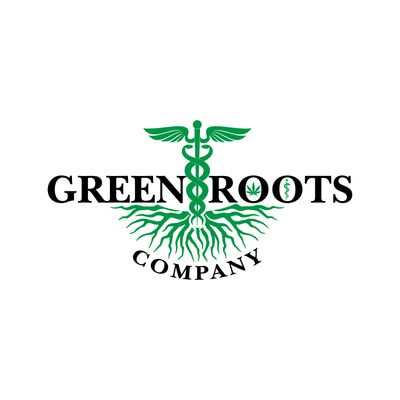 Green Roots Company logo Hollis Maine organic Cannabis dispensary