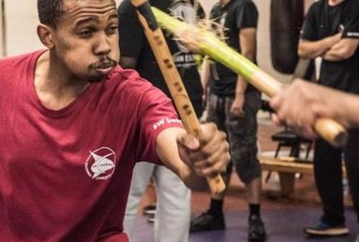 people doing Escrima, Kali, Arnis, weapons based Martial Arts, Street Self Defence. Escrima SW Londo