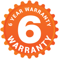 up to 6 year warranty