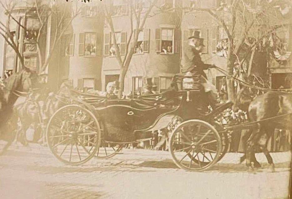 Dewey Day Boston, 1899. Admiral George Dewey is honored along Tremont Street