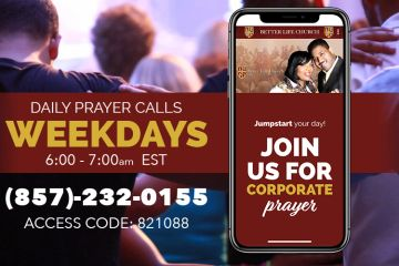 Jumpstart your day with our Morning Prayer Calls! Monday - Friday from 6:00am - 7:00am.