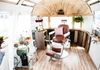 On-location Hair and Make-up for Wedding in Colorado in an Airstream