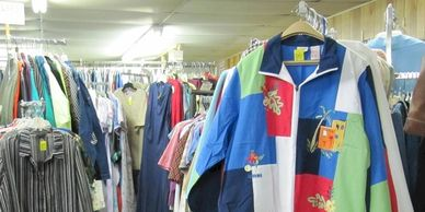 Clothing at Christian Crossing Thrift Shop