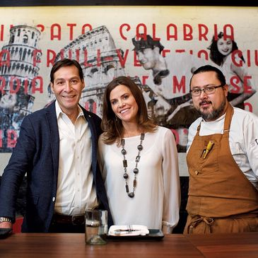 I'm Eddie Cano owners Massimo Papetti, Carolyn Papetti, James Gee