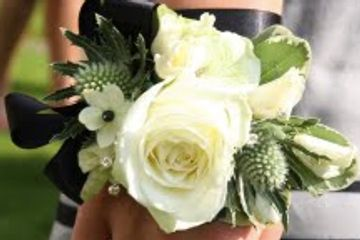 Succulent Corsage / Boutonniere. Winter Formal and Prom Flowers. Formal Flowers in Huntington Beach.