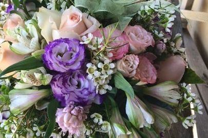 2019 Wedding Bouquet. Dusty Rose Wedding Flowers. Wedding Flowers. Huntington Beach Florist.