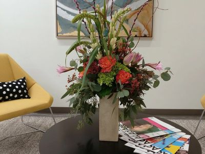 Office Flowers Delivered, Lobby Flowers, Client Flowers,