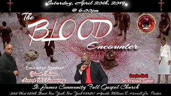 "Join Us on April 20th @ 6:00 for our "" Blood Encounter ""   You Don't want to Miss this Encounter  Ho"