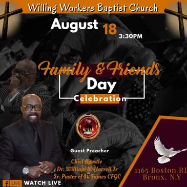 Apostle Speaking at the Willing Workers Baptist Church this Sunday @ 3:30pm