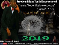 Join the millennials on Freedom Friday Youth Empowerment Gathering March 29, 2019 @ 8:00 PM with pre