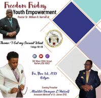 Meet us this Friday at 8pm for our Freedom Friday Youth Empowerment Service.