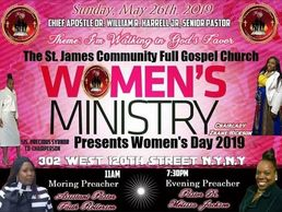 Save The Date🚫 Calling All Women. Come Join the Women's Ministry of St James Community Full Gospel