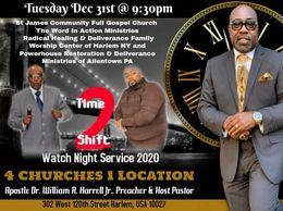 Join us as we crossover into our New Year & into 20/20 Vision.