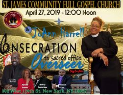 Overseer Designate Dr. JoAnn Harrell Consecration to the Office Of Overseer.