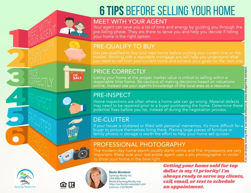 6 Tips before selling your home!