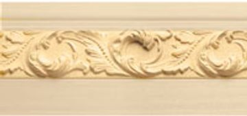 M3-35 baseboard with swirling leaf.