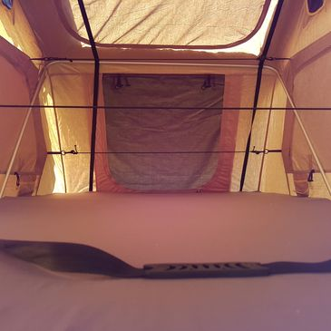 inside wild coast roof top tent