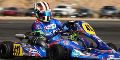 Terry Lawrence CKR USA Shifter Kart Pro Kart Challenge Willow Springs winner